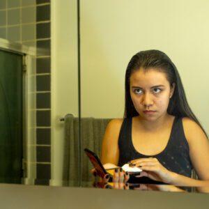 Amanda in the Mirror, Nan Goldin Emulation